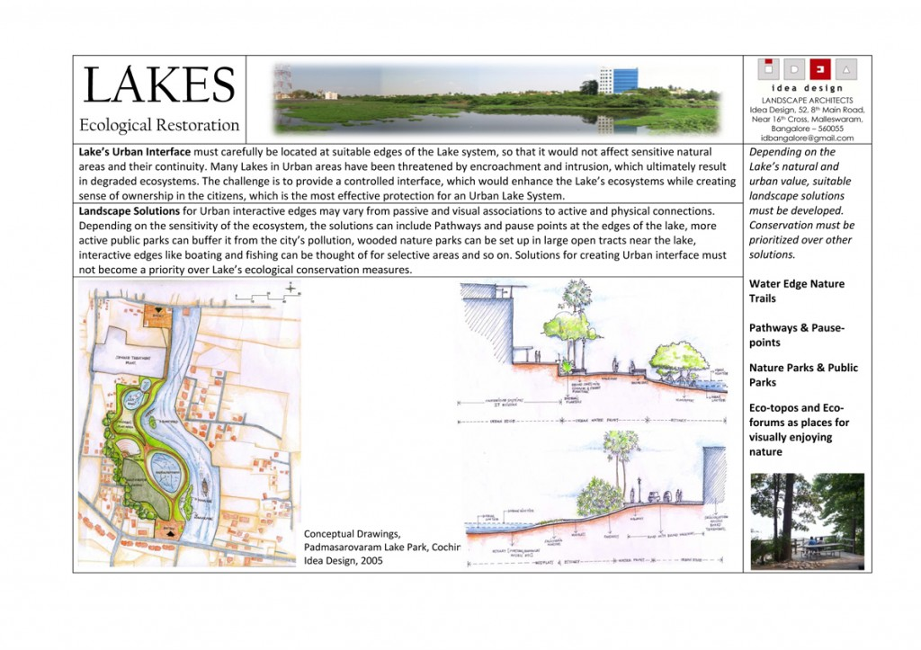 Microsoft Word - LAKES - Ecological Restoration 01jul09